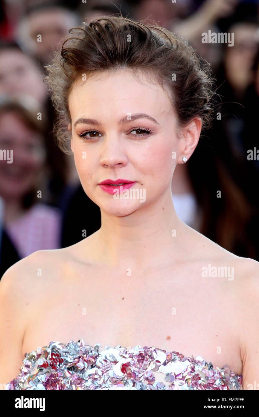 Carey Mulligan attends the World Premiere of 'Far From The Madding Crowd' at BFI Southbank, London. 15/04/2015/picture - Stock Image