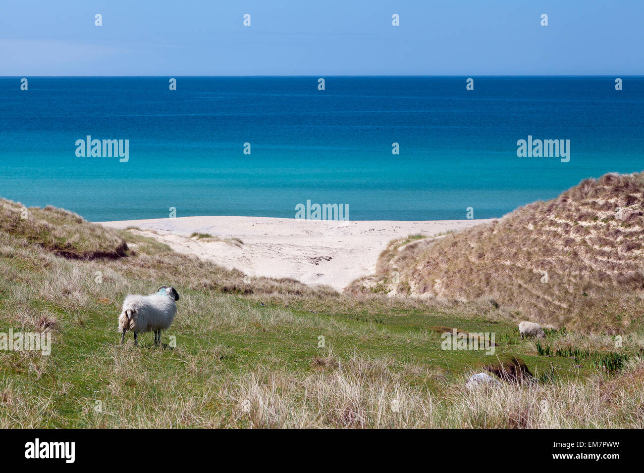 Natural landscape of Harris, Scottish Outer Hebrides - Stock Image