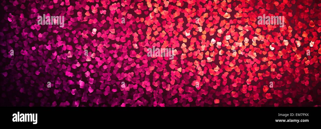 Transparency effect orange hearts. EPS 8 - Stock Image