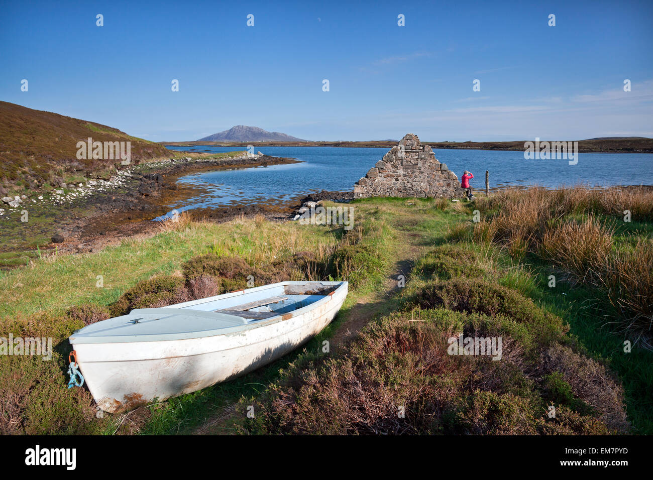 Loch Langass, Isle of North Uist, Outer Hebrides, Scotland . - Stock Image