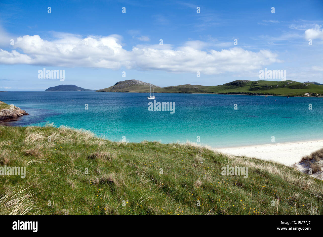 Scottish paradise beach : Isle of Vatersay, Outer Hebrides - Stock Image