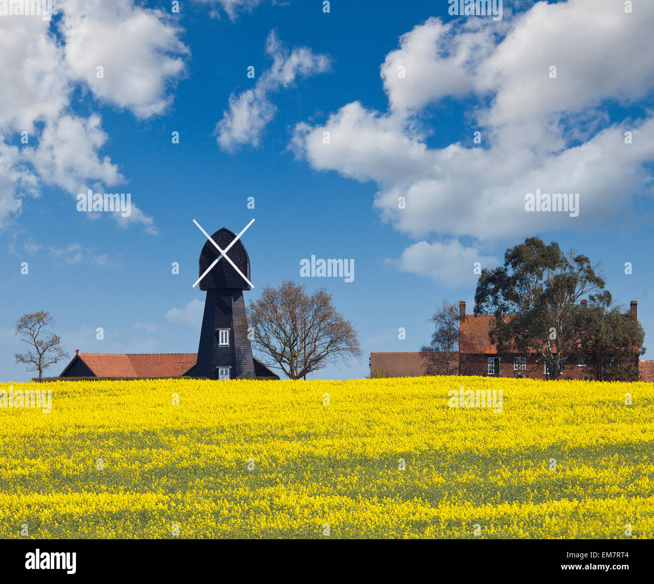 Chislet windmill. - Stock Image