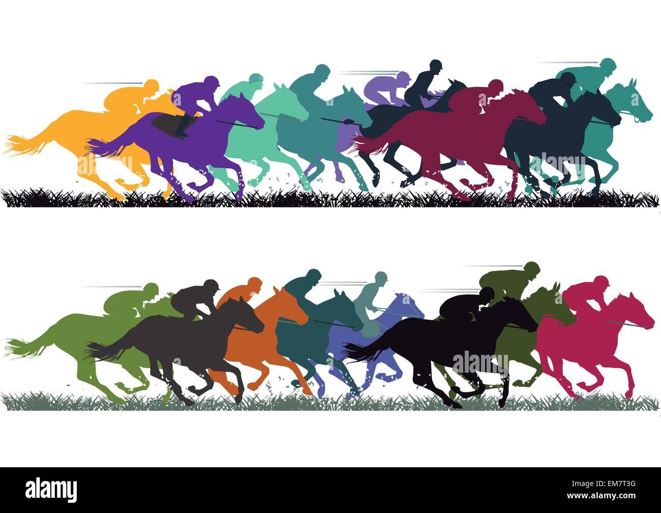 Horse Racing - Stock Vector