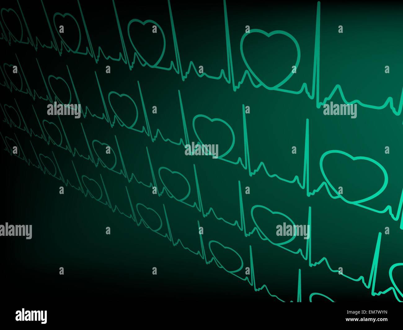 ECG tracing monitor. EPS 8 - Stock Image