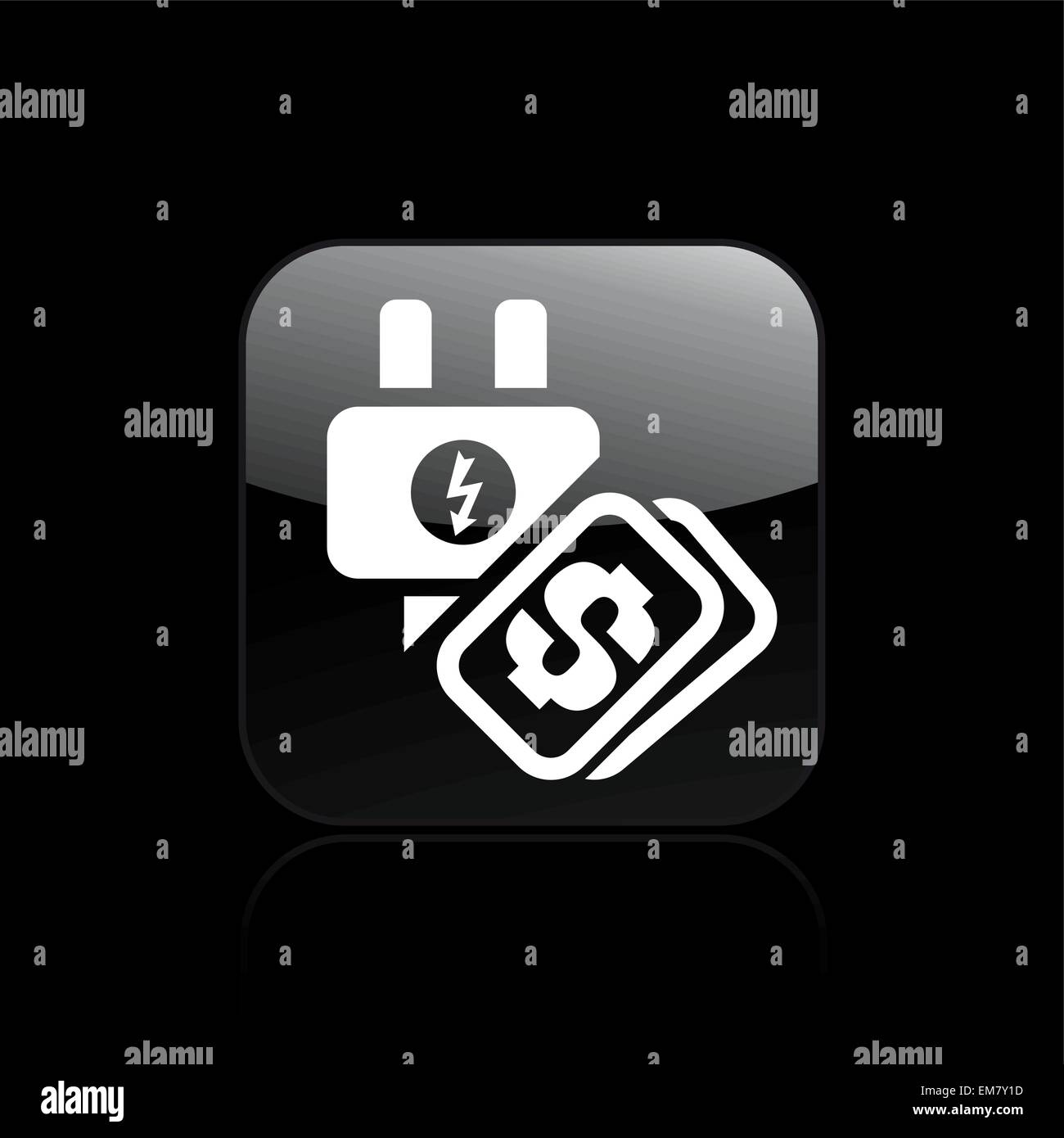 Vector illustration of single energy cost icon - Stock Vector