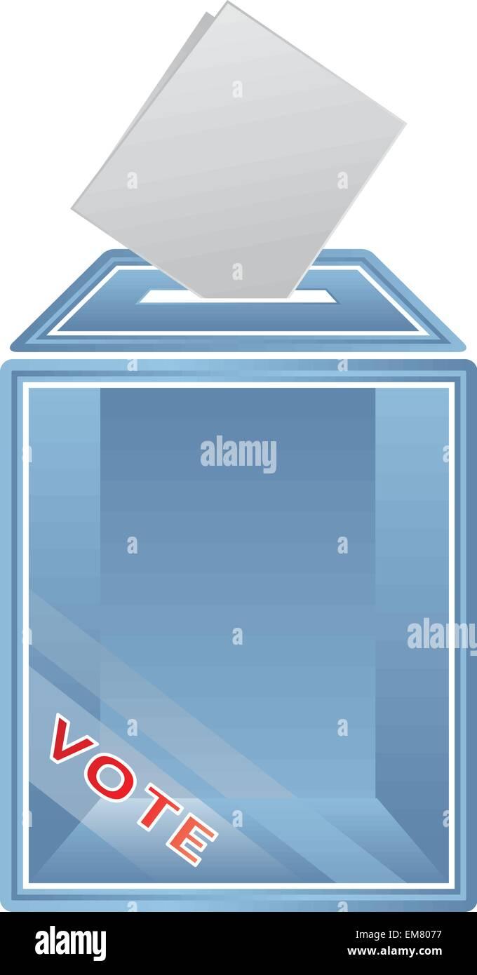 vector image of ballot box - Stock Vector