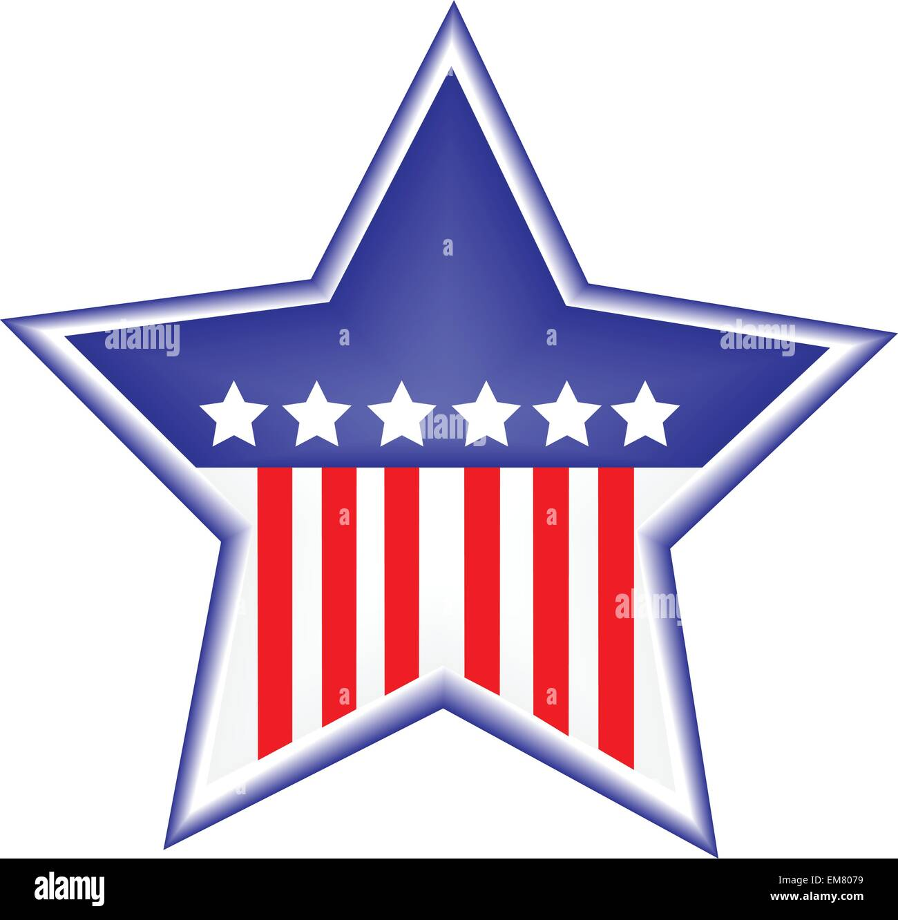 vector image of star shape - Stock Vector