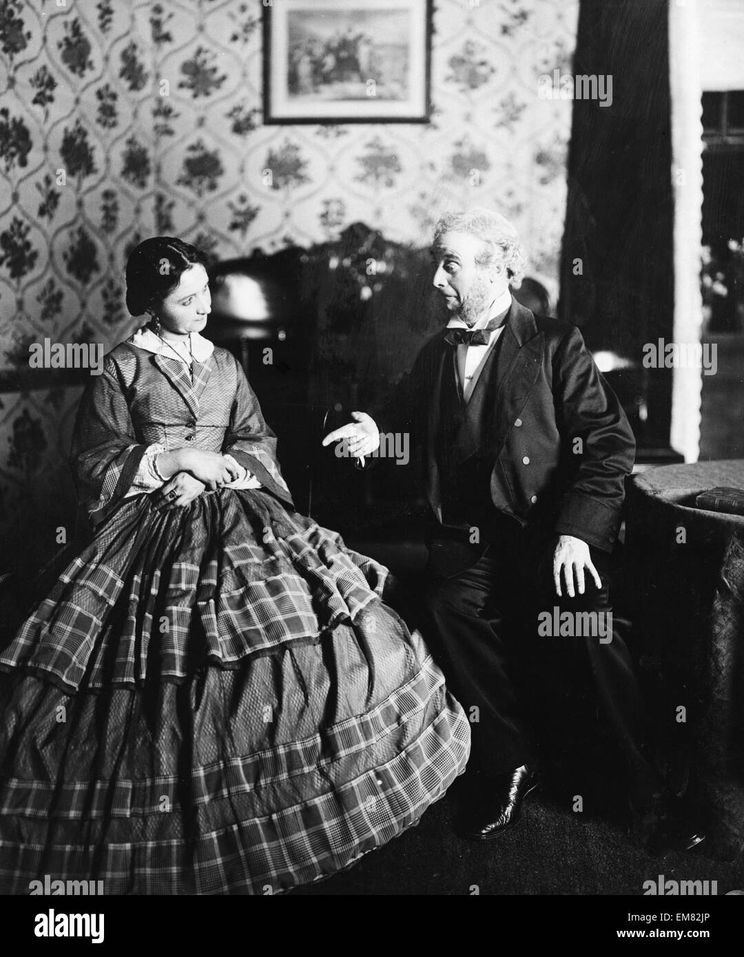 A scene from the play ' Bunty pulls the strings', playing at the Haymarket Theatre. 20th July 1911 - Stock Image