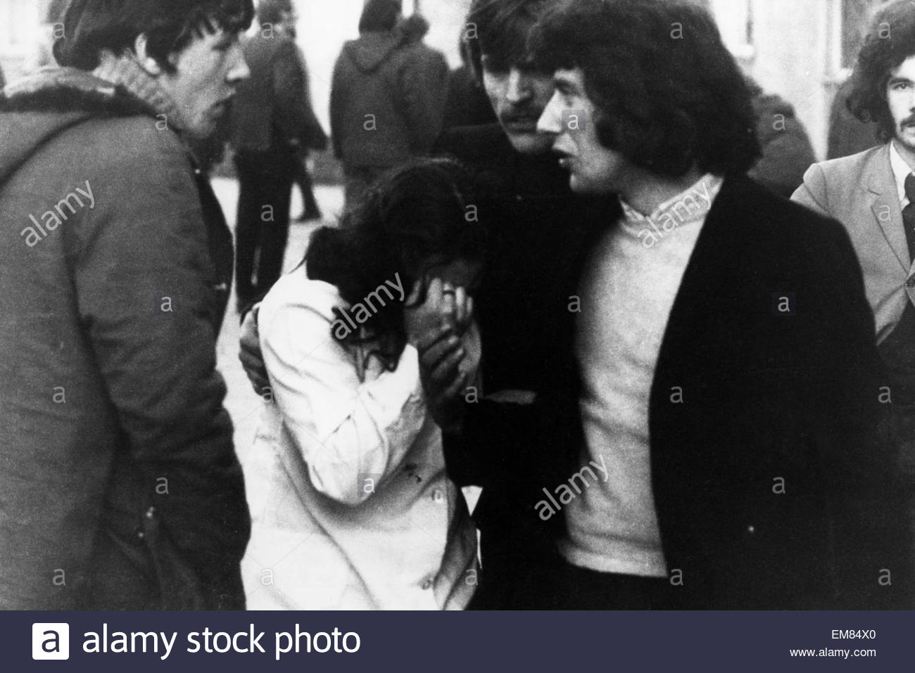 Bloody Sunday in Ulster Ireland January 30th 1972 British troops openned fire on a crowd of demonstrators in the - Stock Image