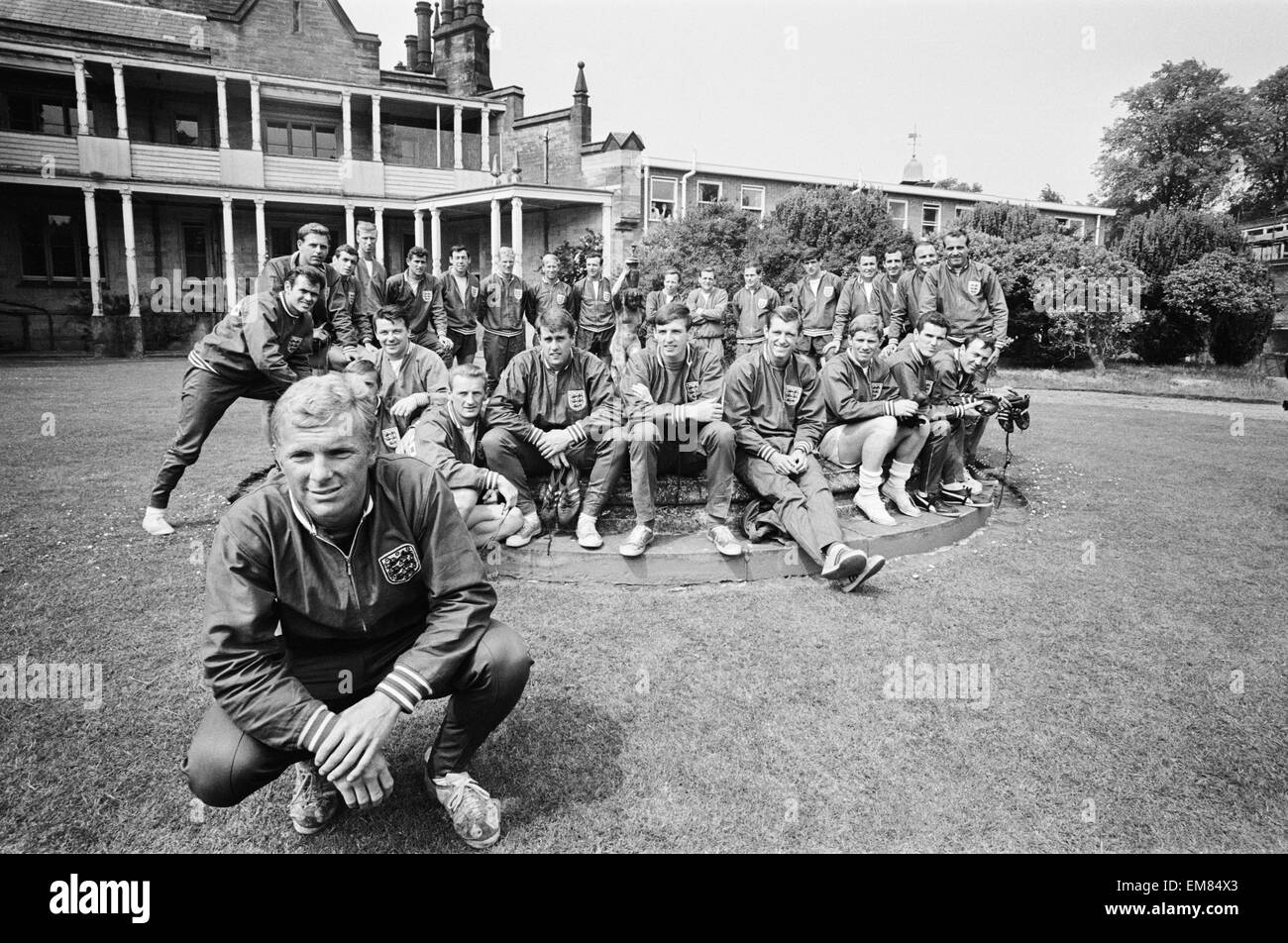 England Football Captain Bobby Moore And The 1966 World Cup Squad At Lilleshall Prior To