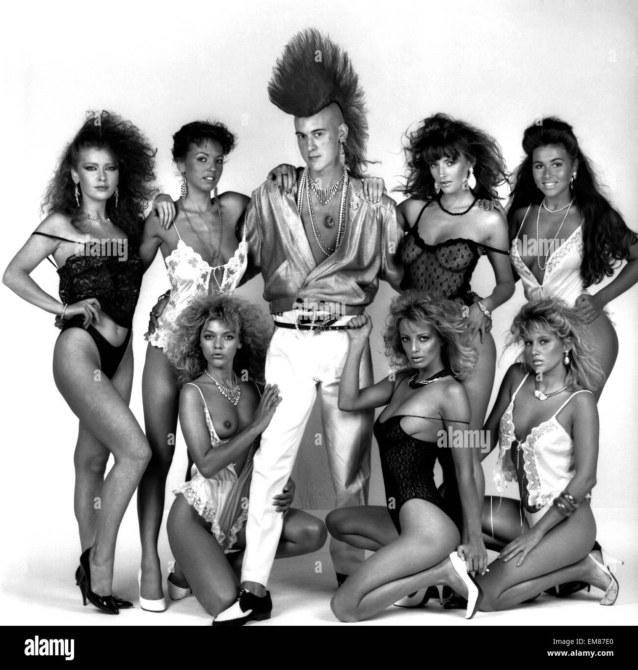Punk pin-up Matt Belgrano has signed on with a women-only pin-up agency. July 1986 P020898 - Stock Image