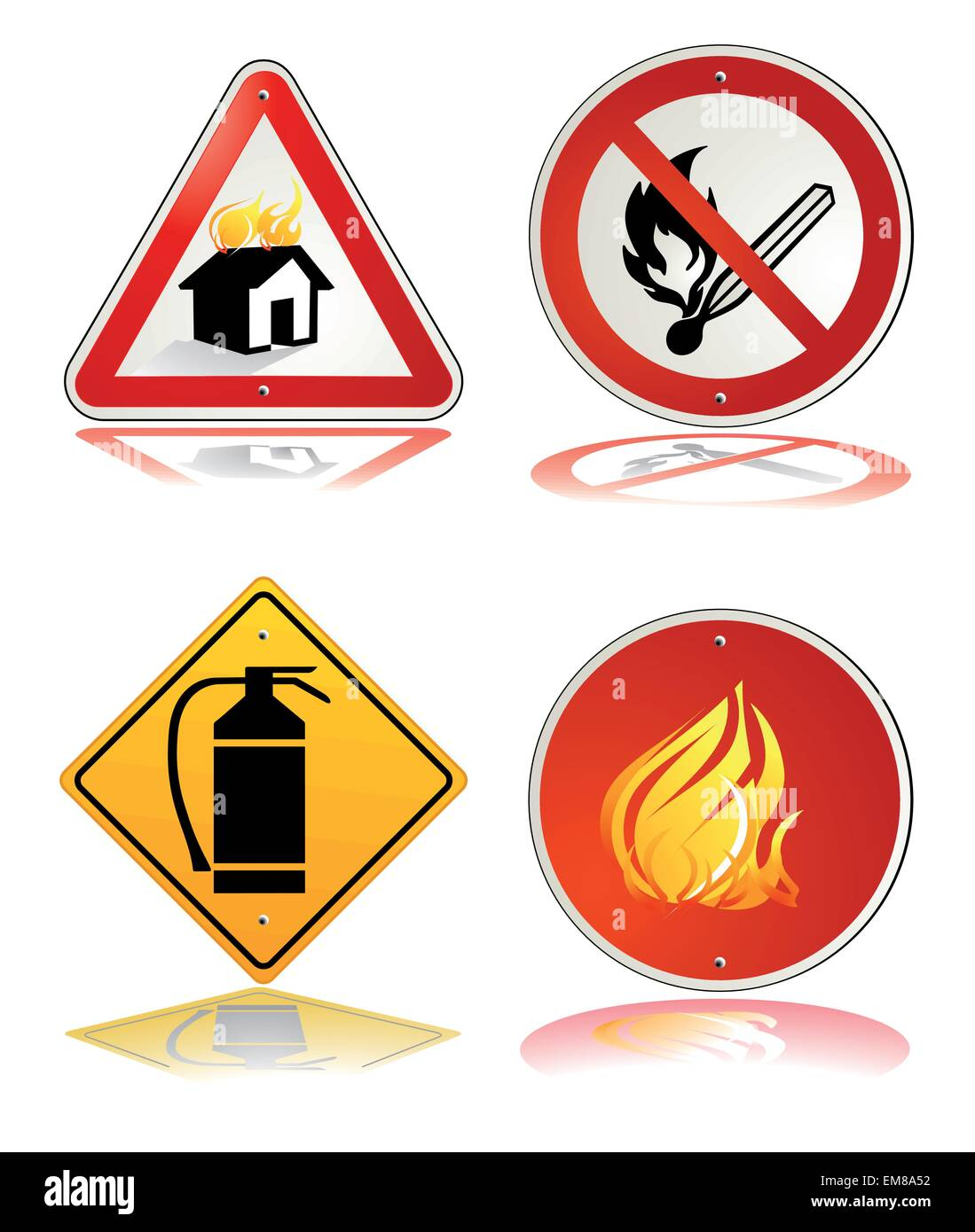 fire safety sign - Stock Image