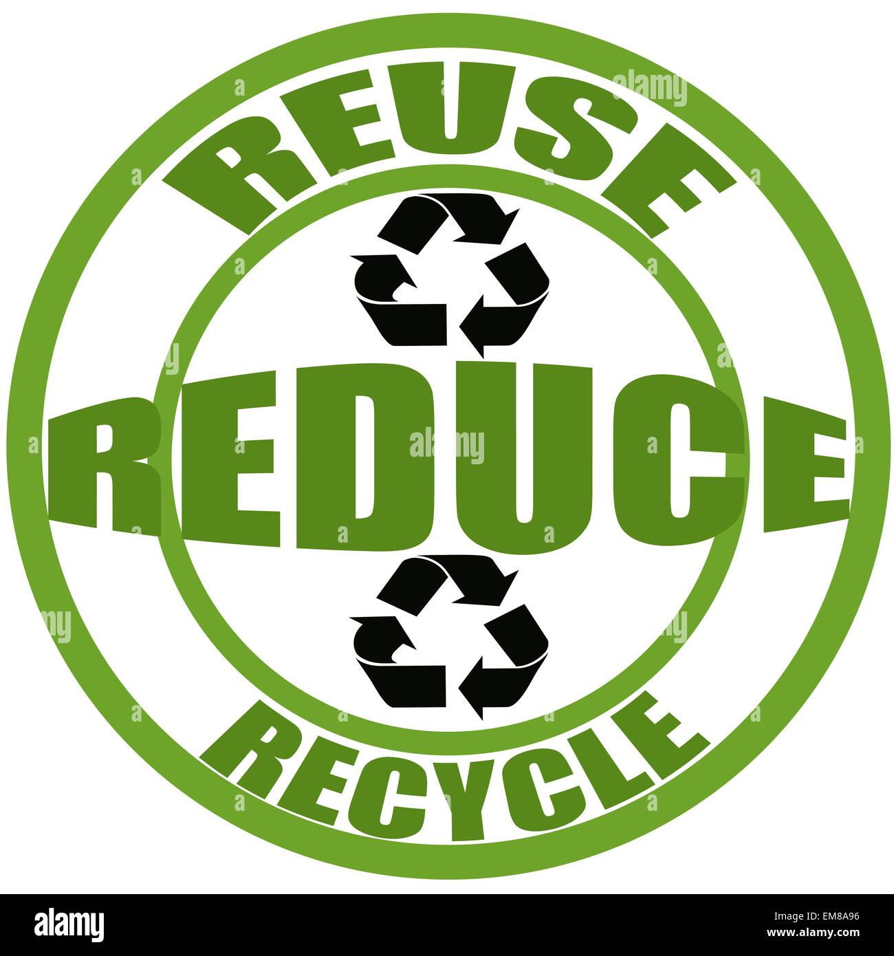 Reuse, reduce and recycle - Stock Image