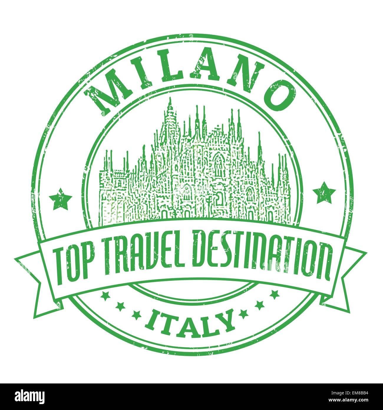 Milano, Italy stamp - Stock Vector