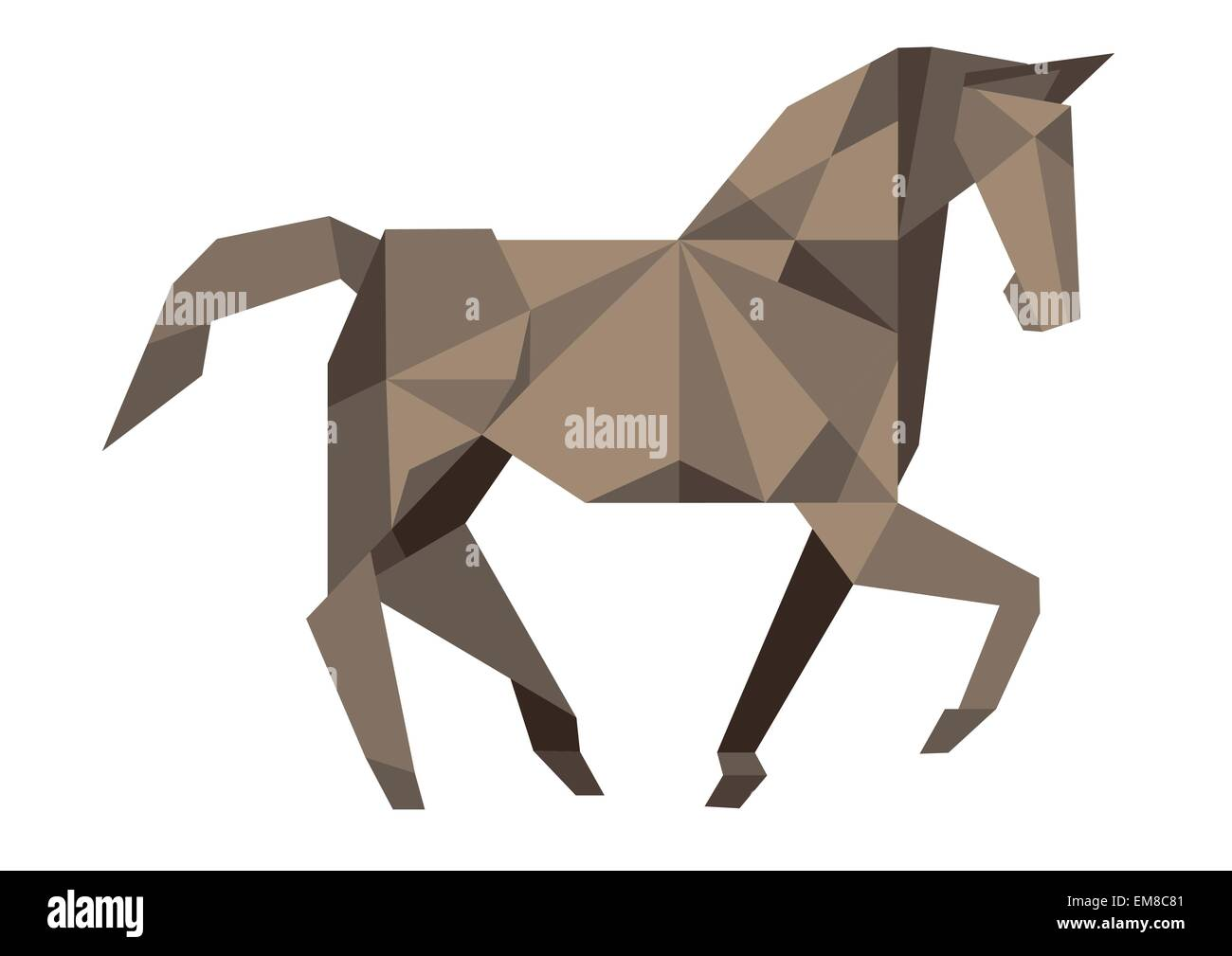Cubist Horse - Stock Vector