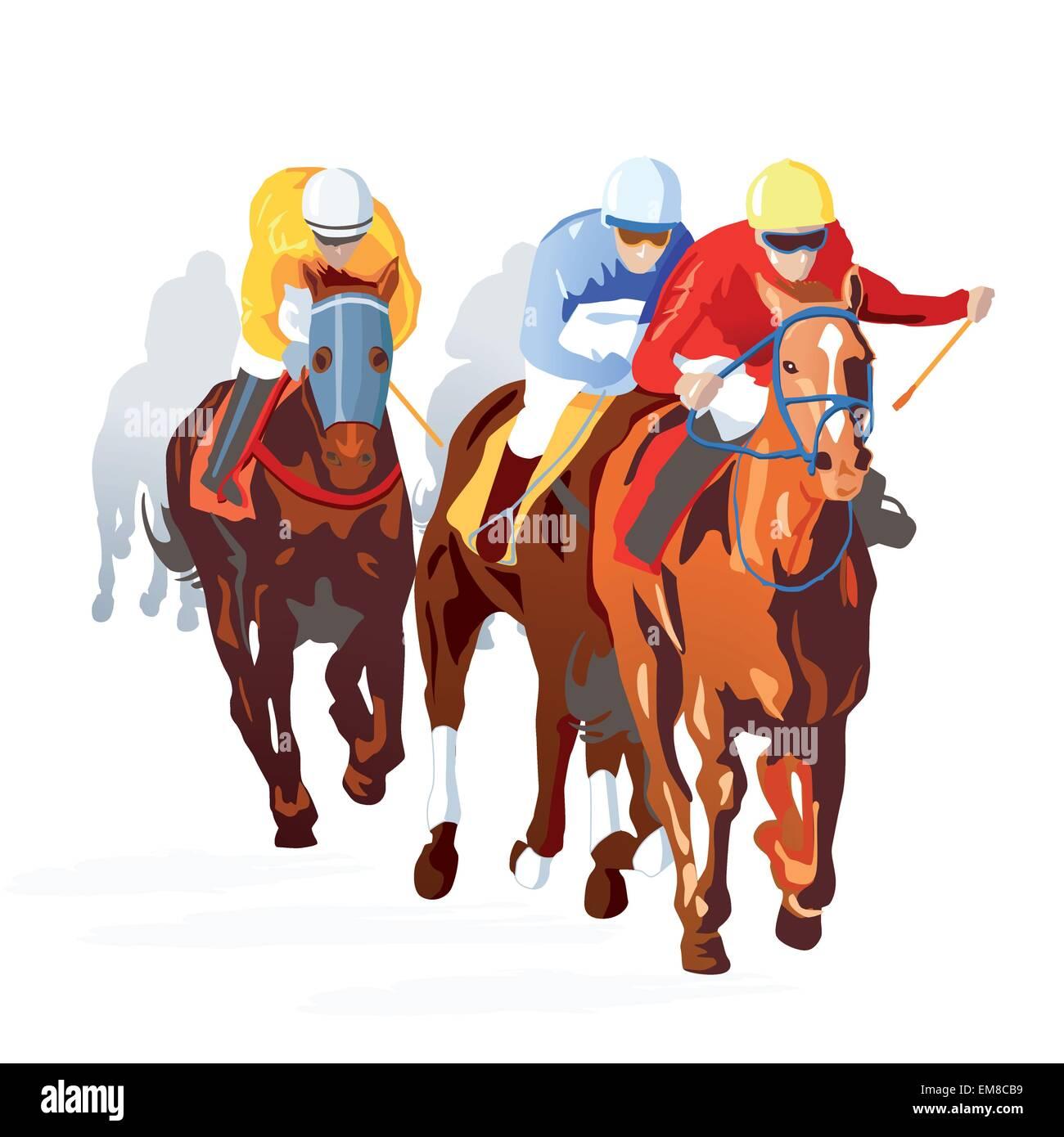 Horse Race Finish - Stock Image