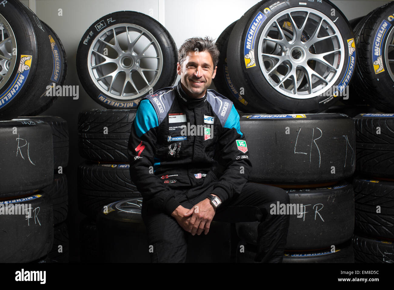 Patrick Dempsey American Actor And Amateur Racing Driver With Stock