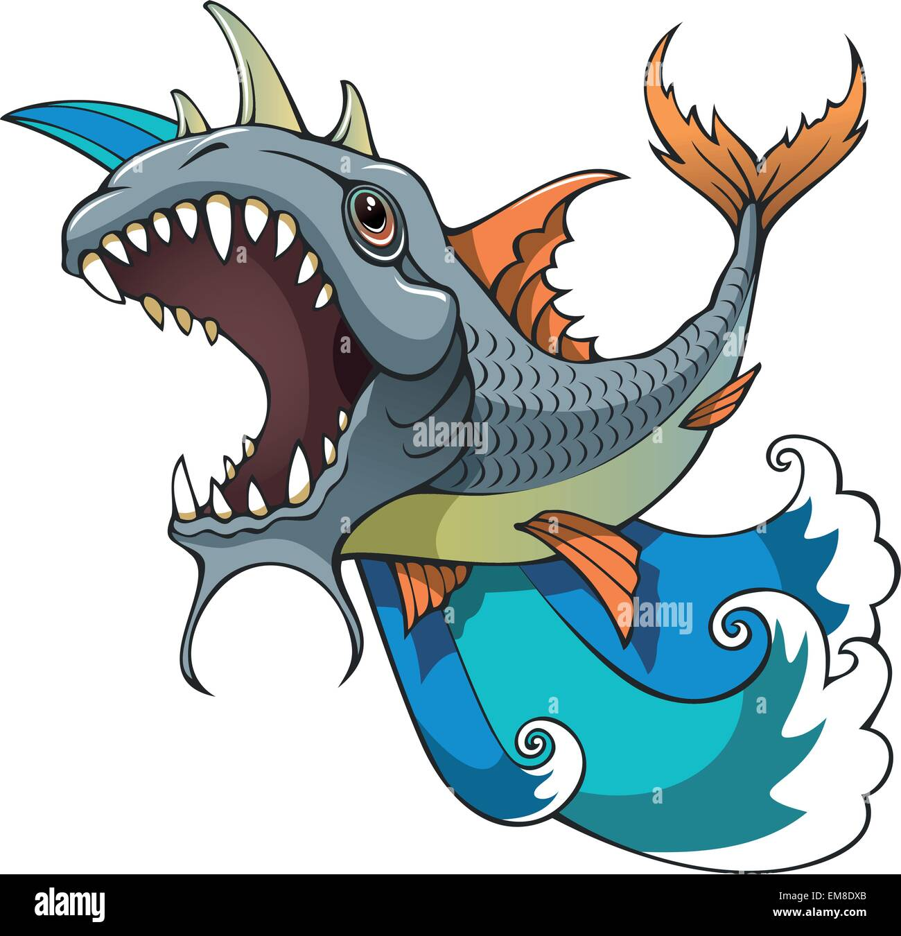 Monster fish - Stock Image