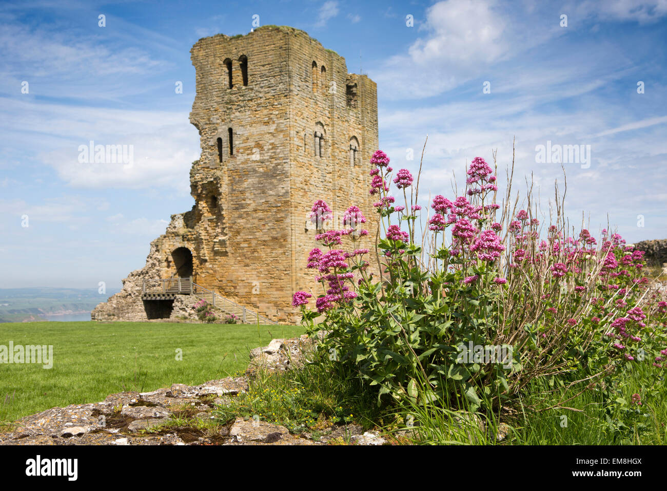 UK, England, Yorkshire, Scarborough, Castle Keep - Stock Image