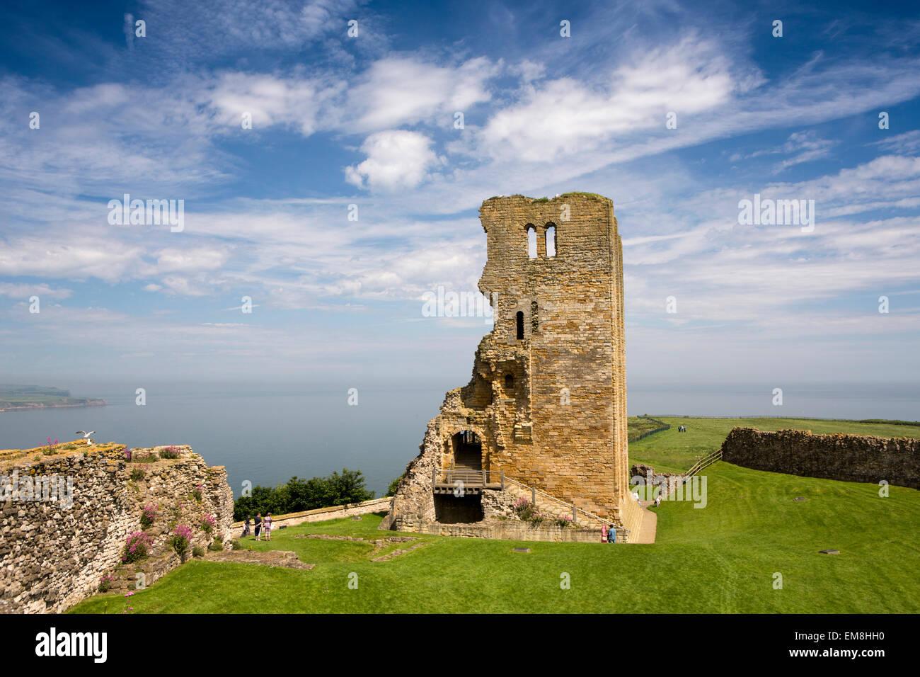 UK, England, Yorkshire, Scarborough, Castle Keep - Stock Image