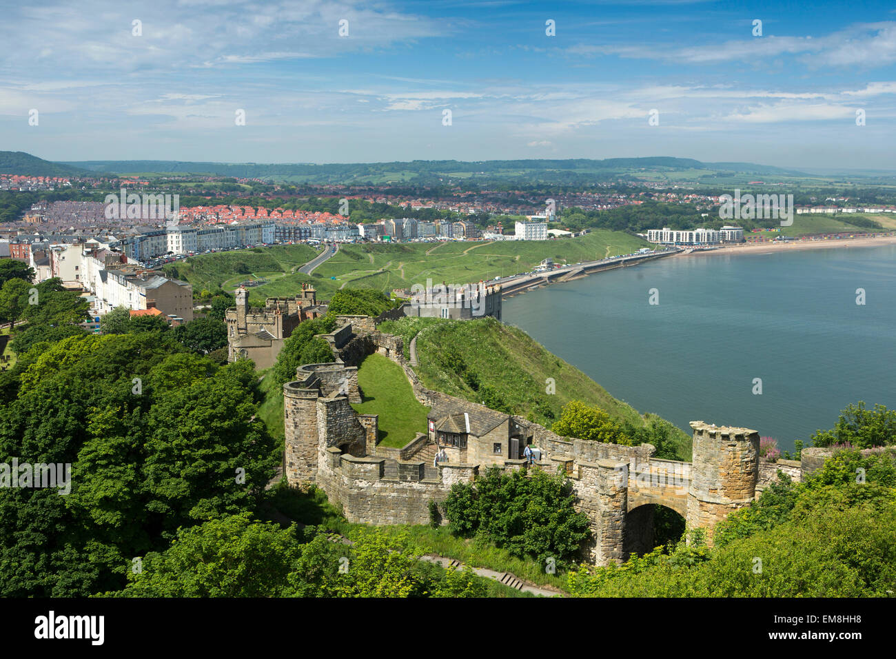 UK, England, Yorkshire, Scarborough, North Bay from the Castle - Stock Image