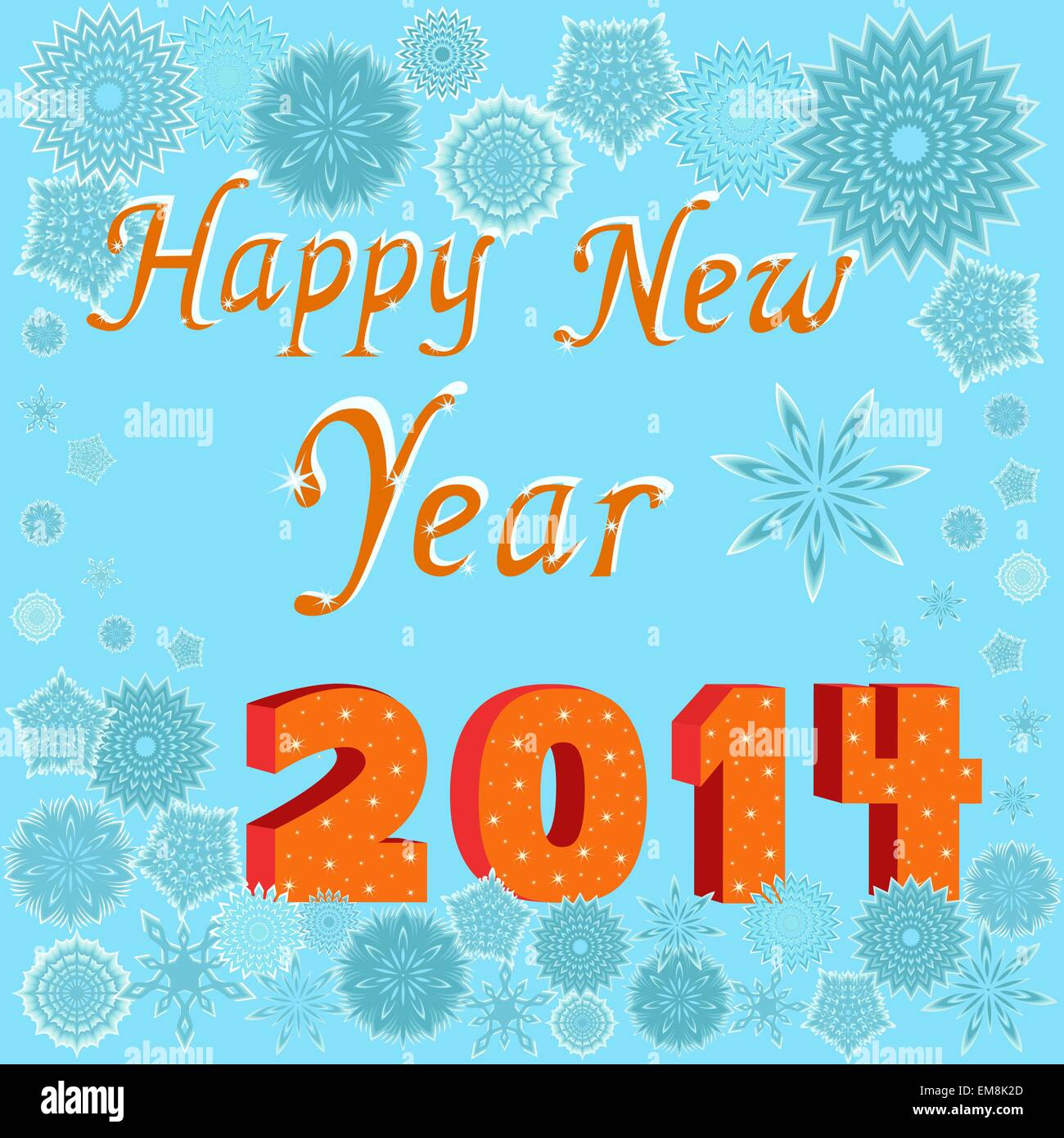 Greeting card happy new year 2014 stock vector art illustration greeting card happy new year 2014 m4hsunfo