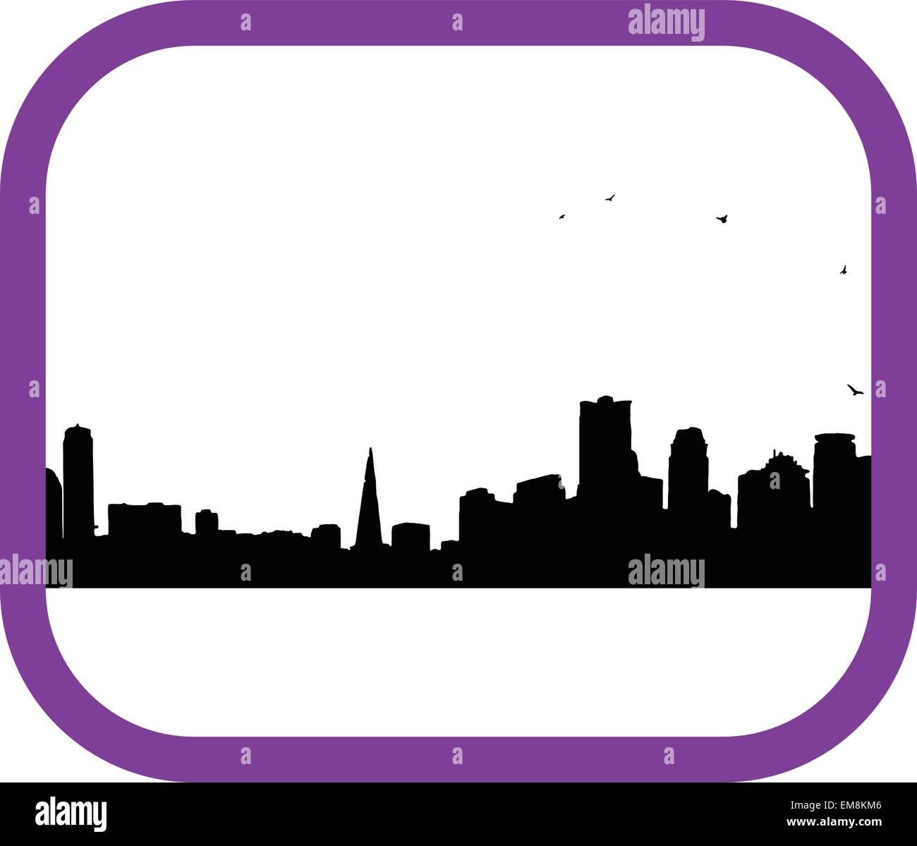 black City - Stock Vector