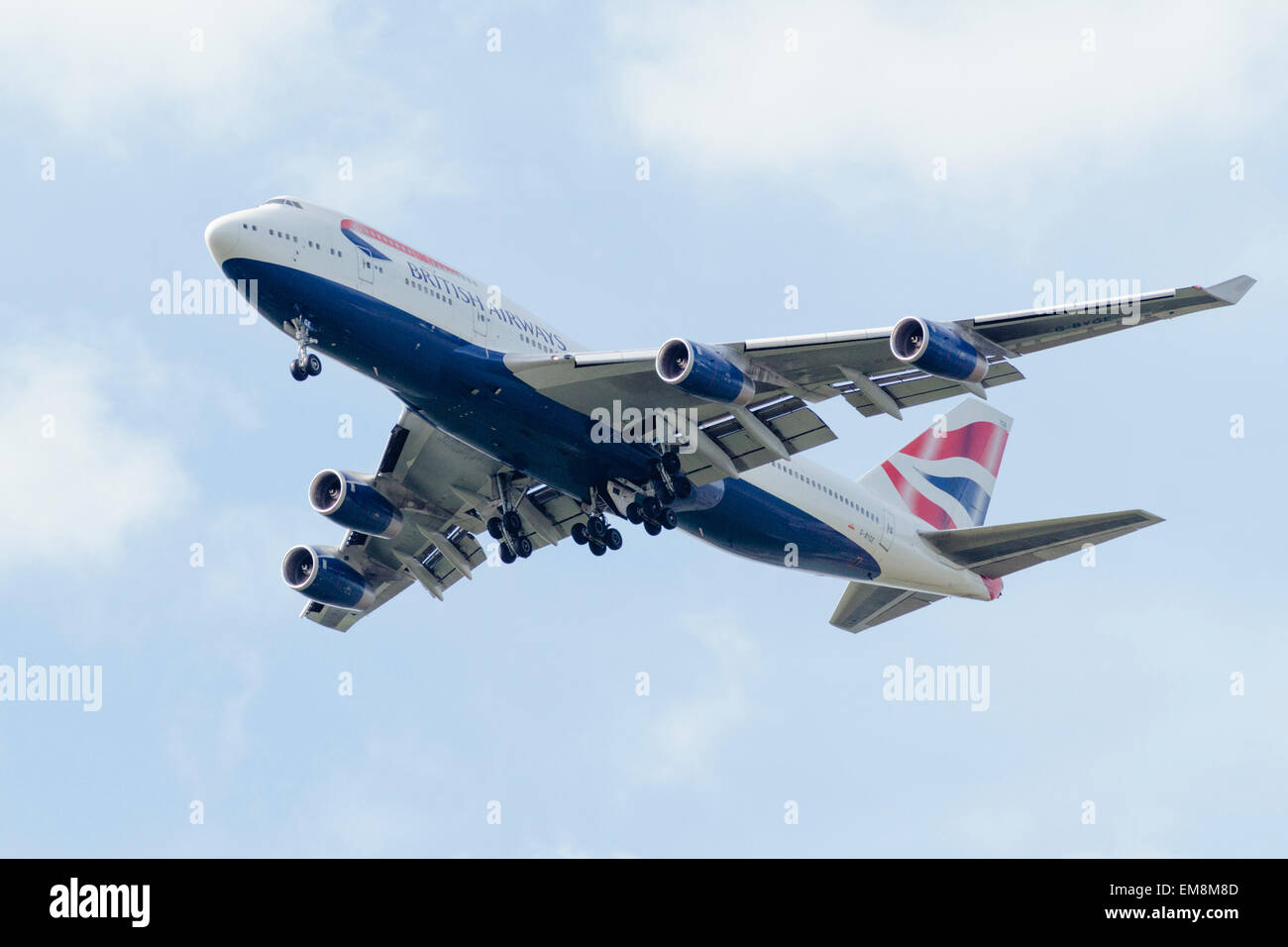 Boeing 747 (G-BYGE) British Airways - Stock Image