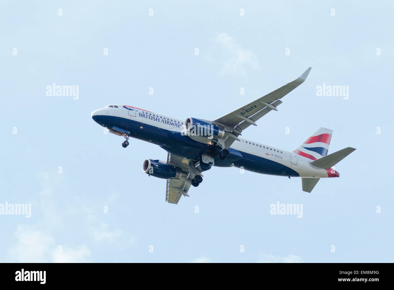 G-EUYV British Airways Airbus A320 - Stock Image