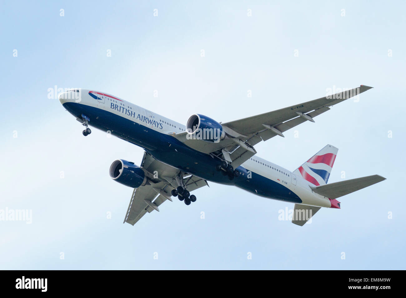 Boeing 777 (G-VIIK)— British Airways - Stock Image