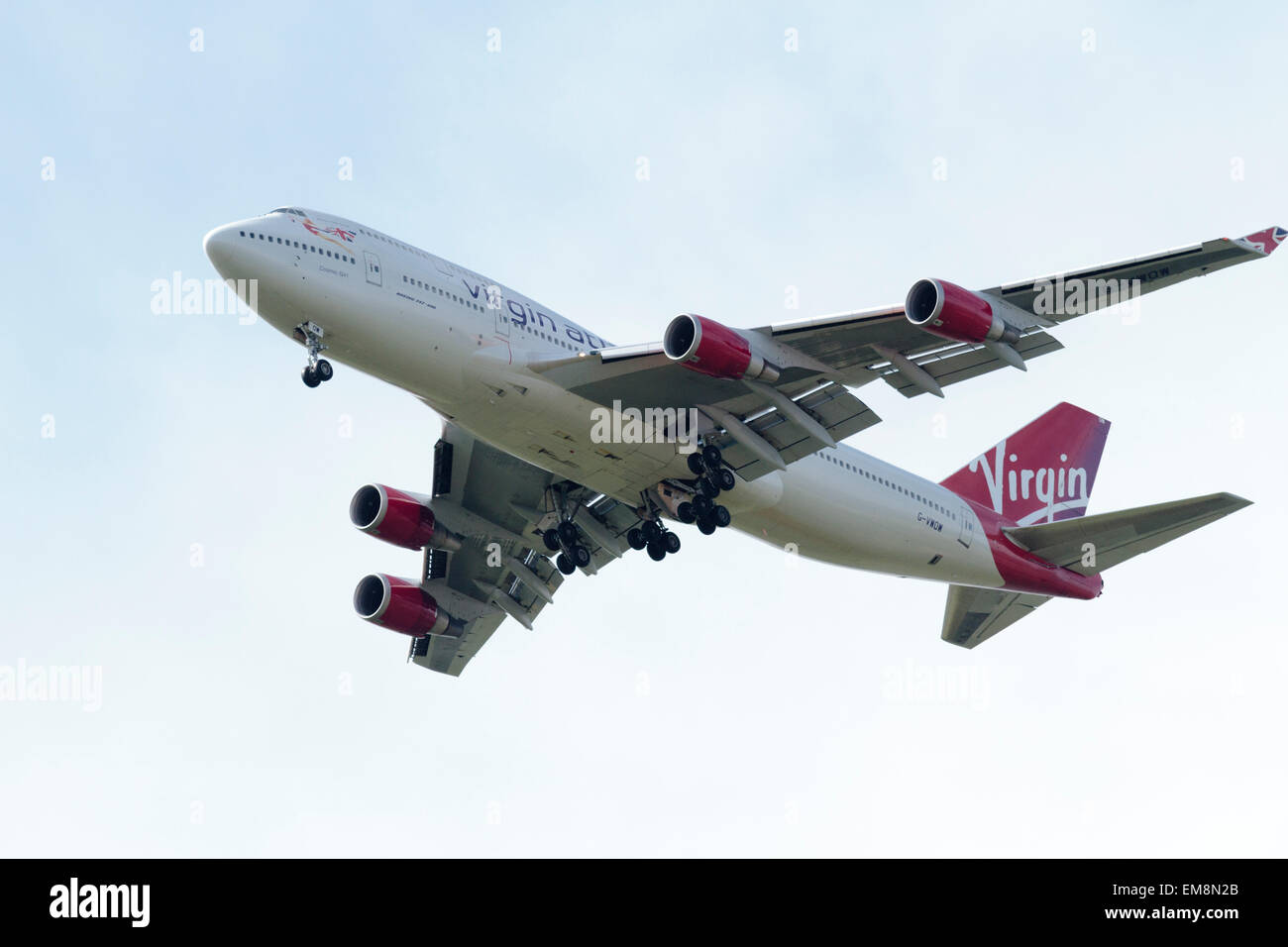 Virgin Atlantic G-VWOW (Boeing 747) - Stock Image
