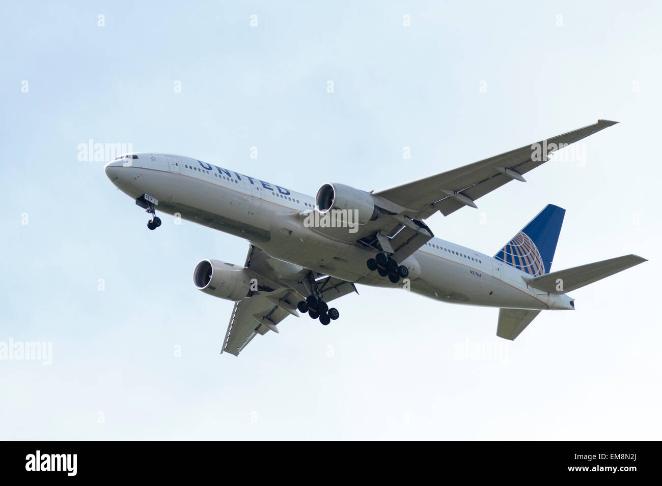 United Airlines N217UA (Boeing 777) - Stock Image