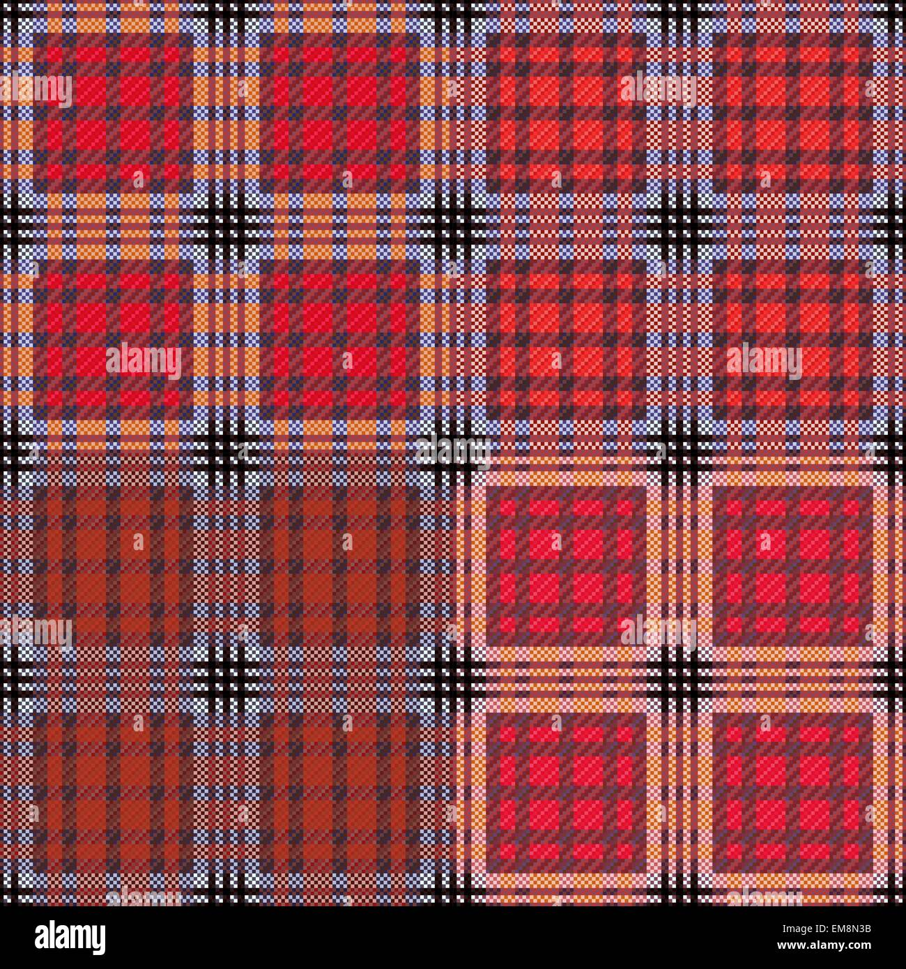 Four seamless checkered patterns - Stock Vector