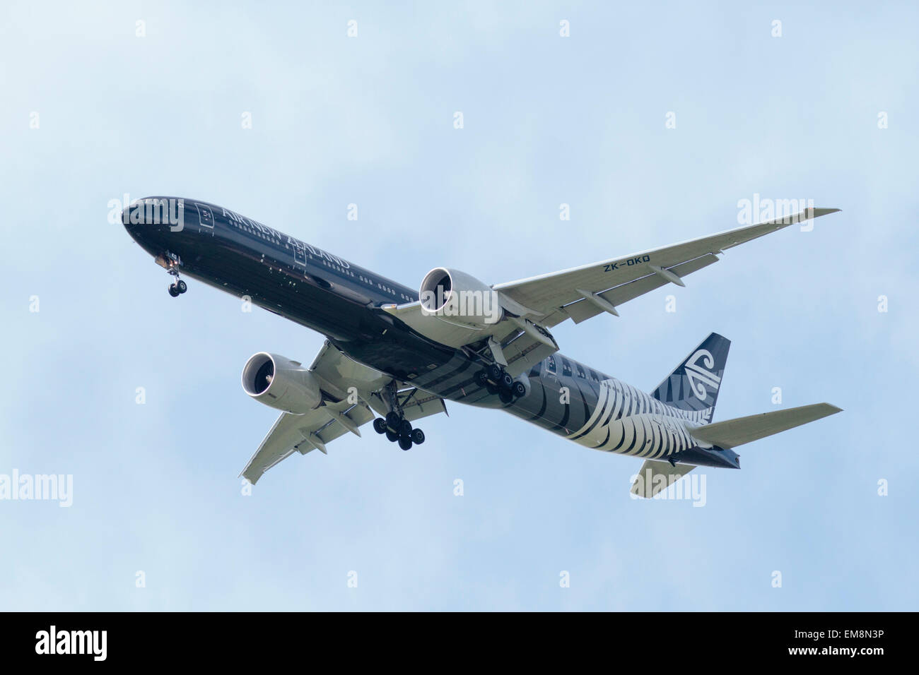 Boeing 777 (ZK-OKQ) Air New Zealand - Stock Image