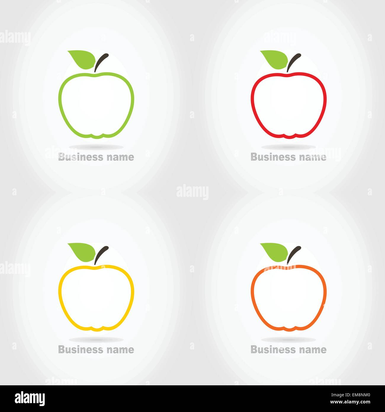 Apples Healthy Food Icons Image Stock Photos & Apples