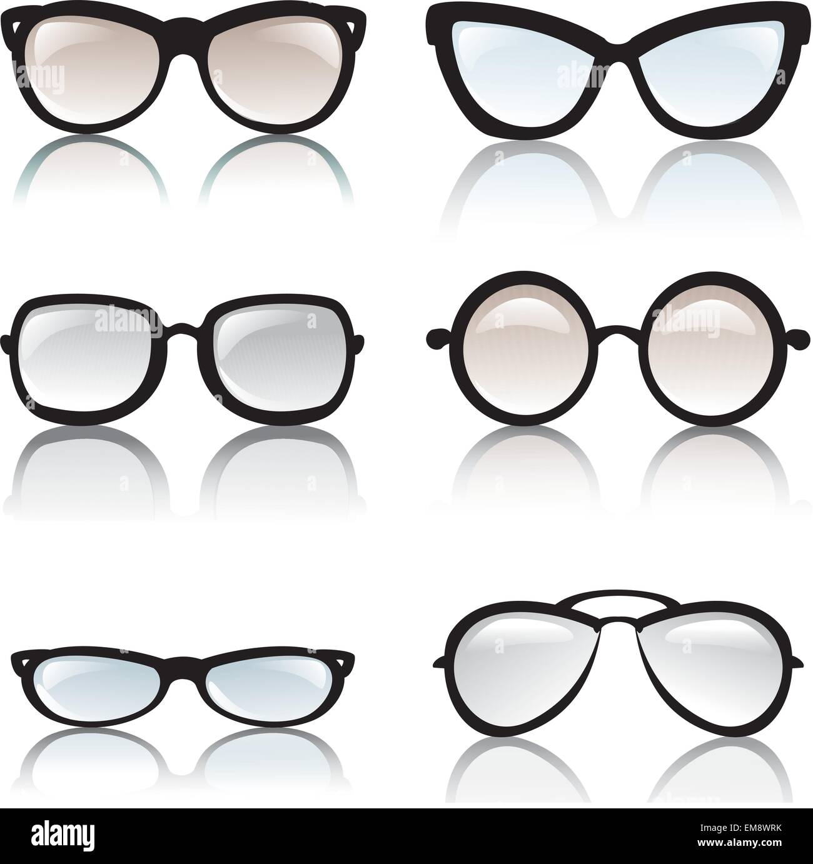 6356607f0b5 glasses frames vector set