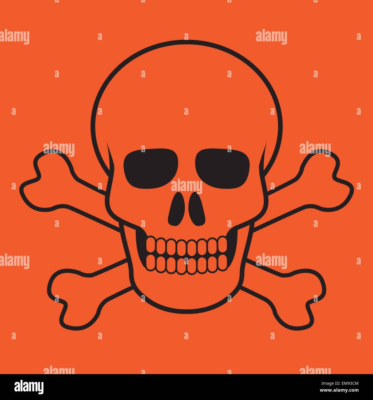 skull and bones - Stock Image