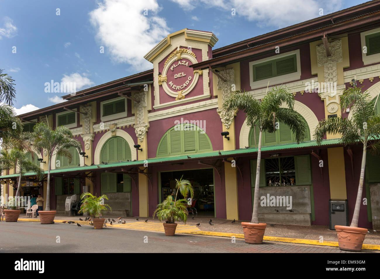 Public market place in Santurce neighborhood. - Stock Image