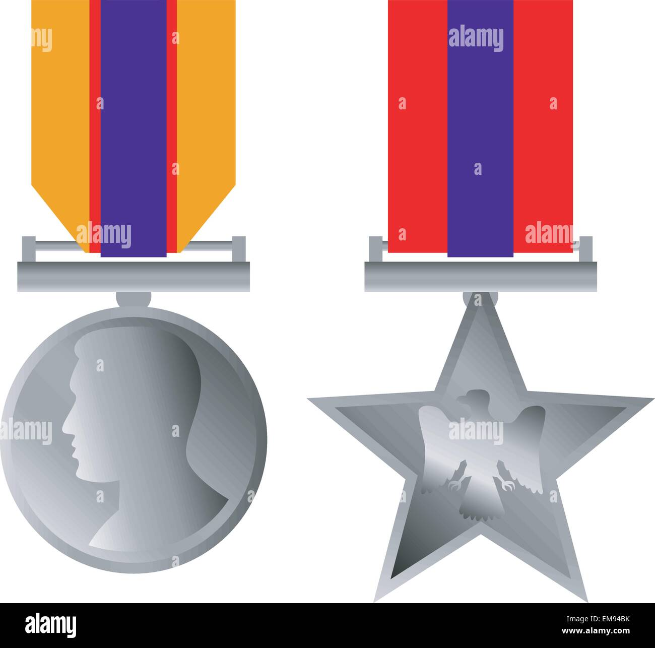 Military Bravery Medal of Honor Isolated Stock Vector