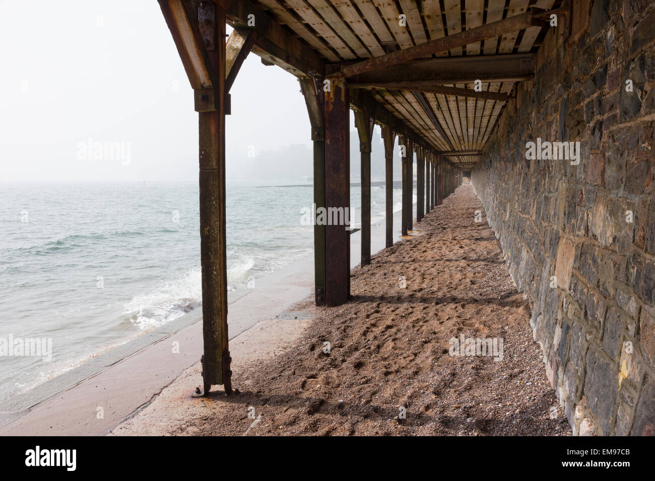 Dawlish Station, South Devon, covered promenade under platform Stock Photo