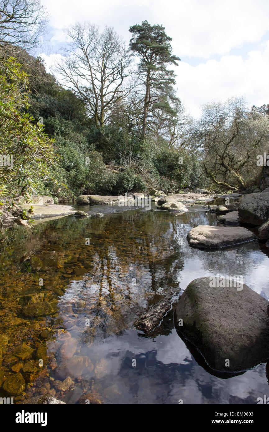 River Avon, near Avon Reservoir, South Brent, South Devon - Stock Image