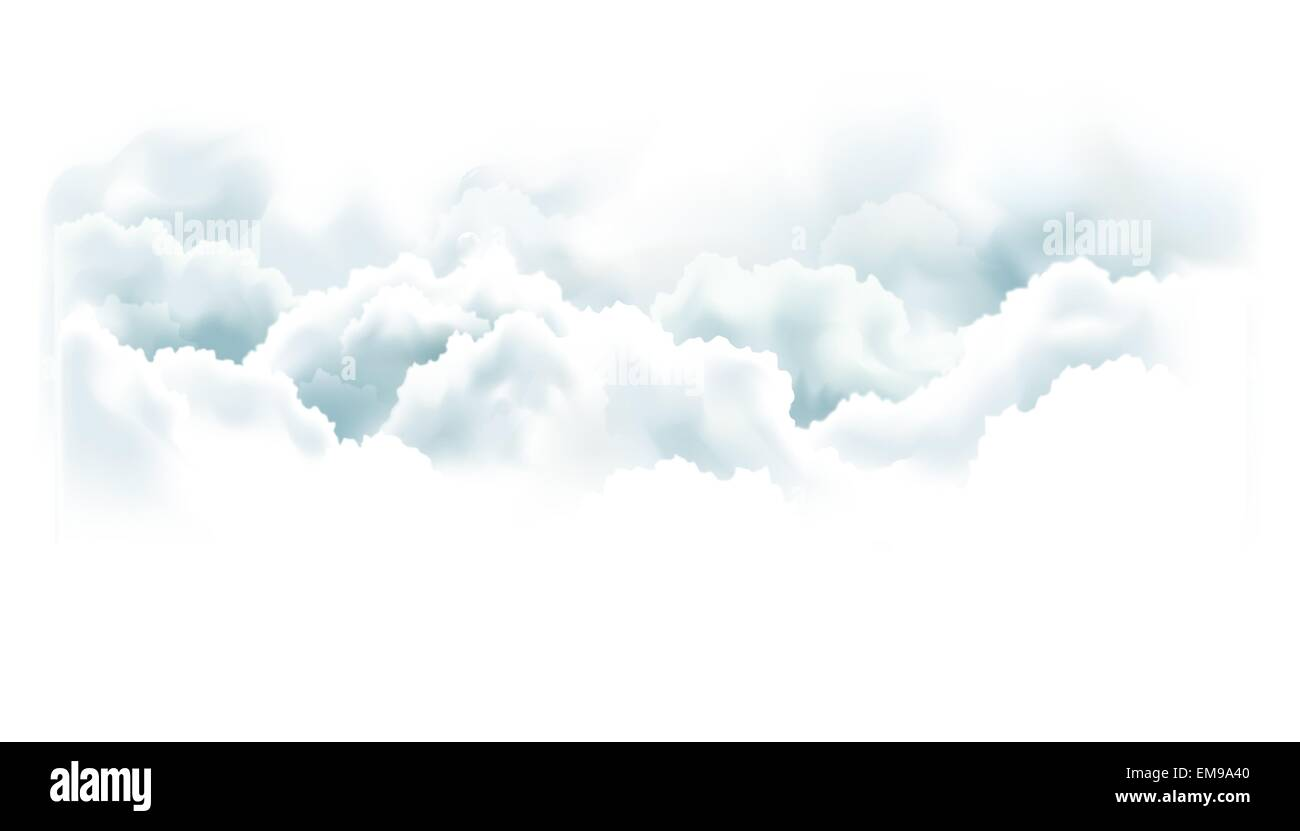 sky with clouds. Vector background. - Stock Image