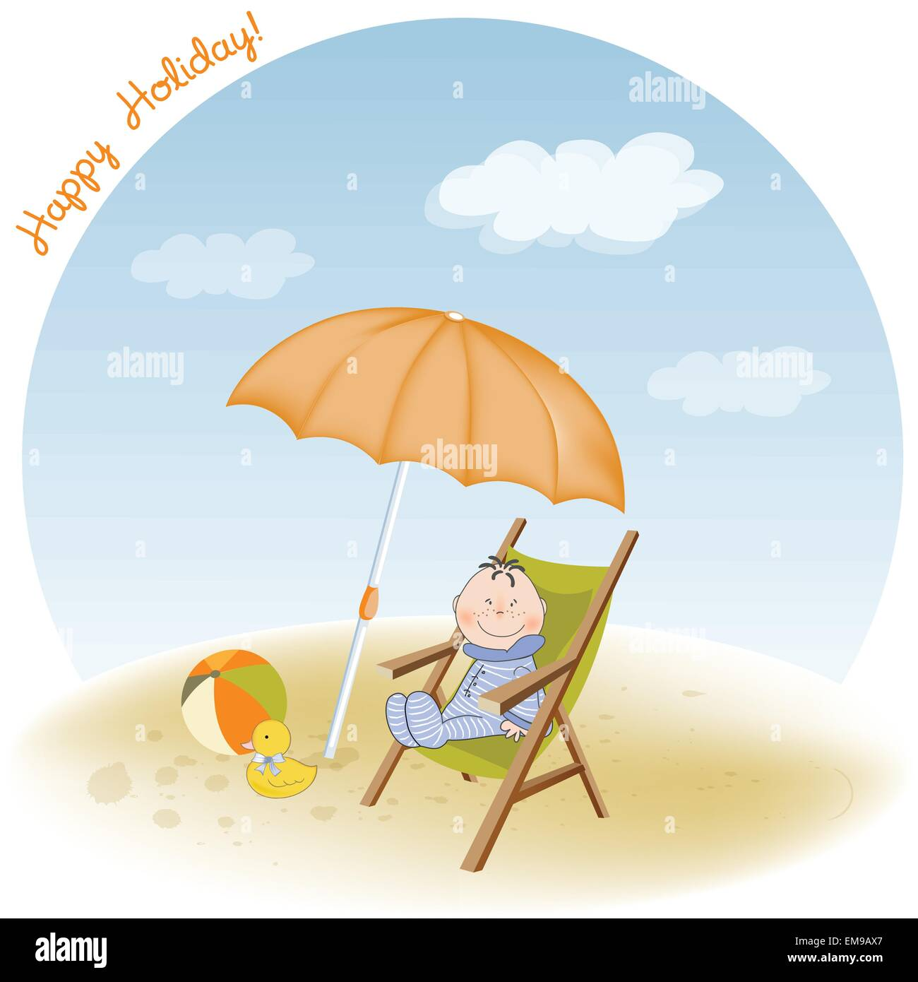 Baby Beach Chair Stock Vector Images Alamy