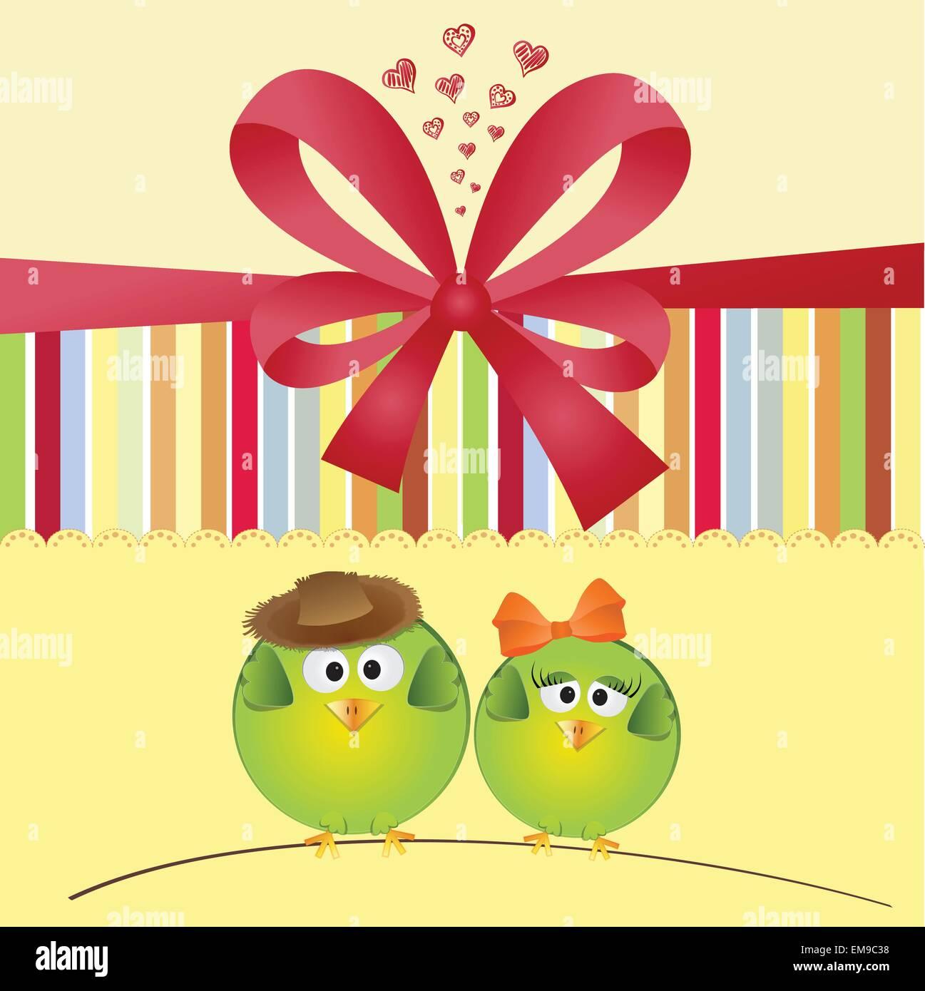 Wedding Invitation With Birds Stock Photos & Wedding Invitation With ...