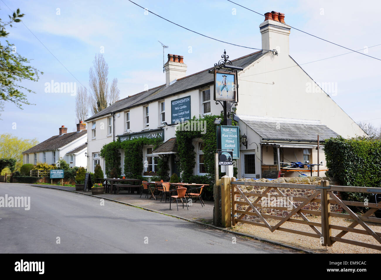 The Labouring Man pub in village at Coldwaltham near Pulborough West Sussex - Stock Image