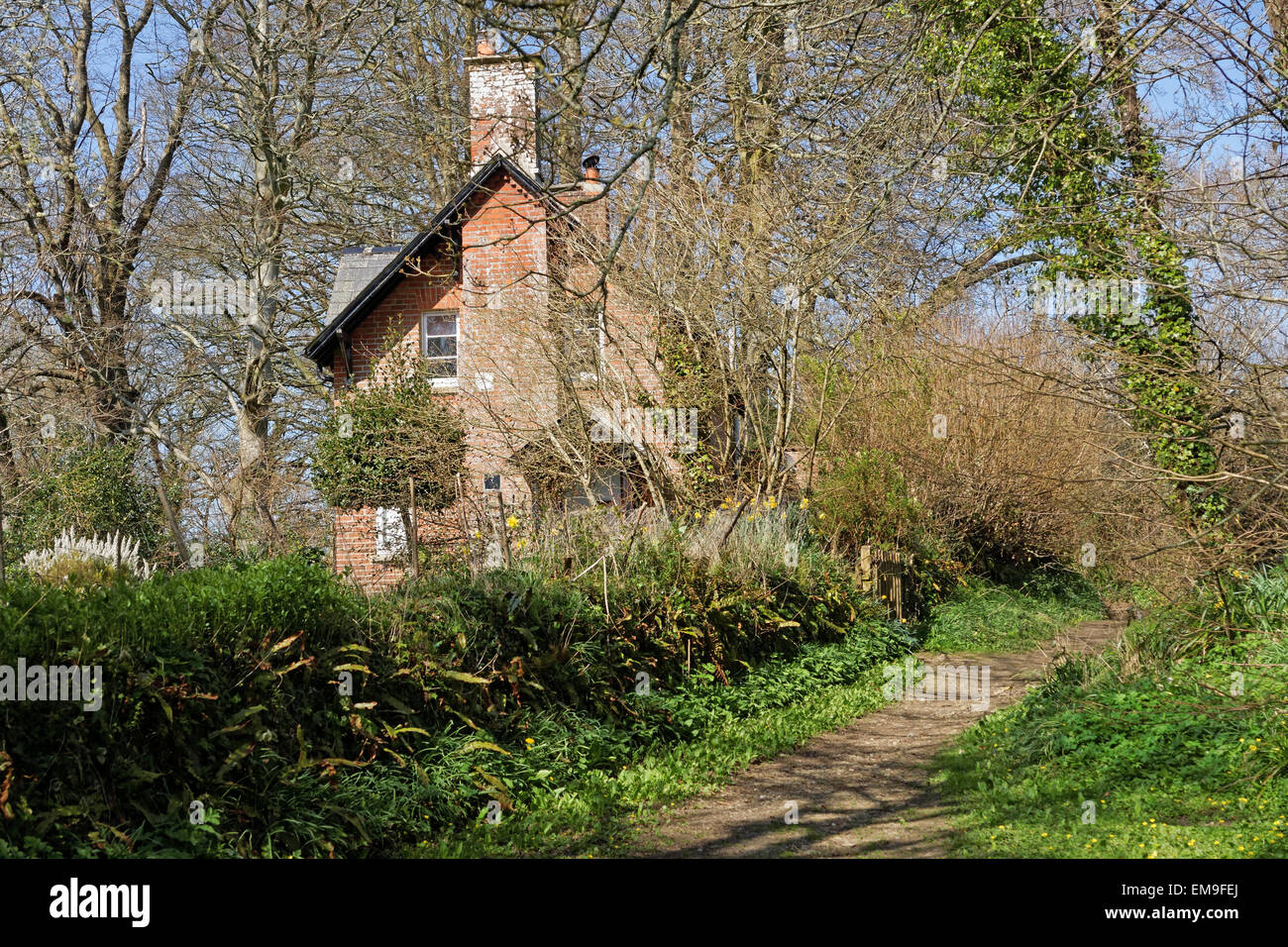 River Cottage Netherbury Dorset, once the home of Hugh Fearnley-Whittingstall. - Stock Image