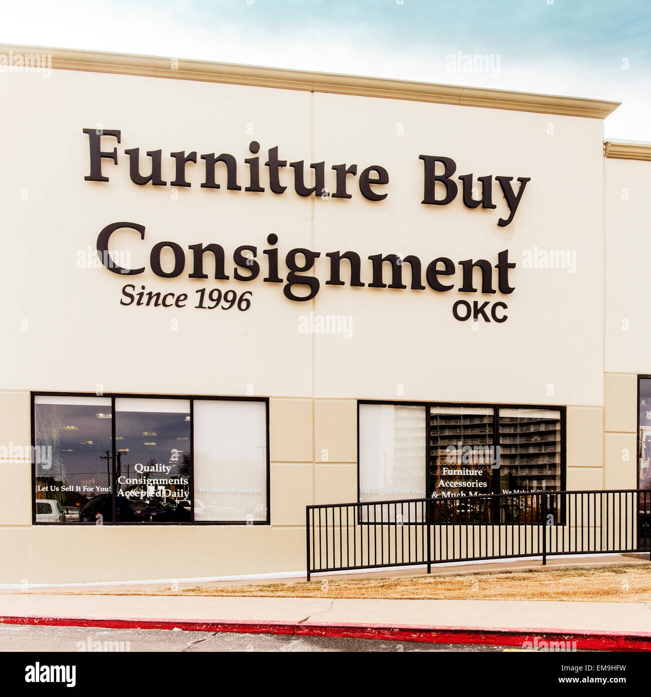 The Exterior Of Furniture Buy Consignment Store In Oklahoma City, Oklahoma,  USA.
