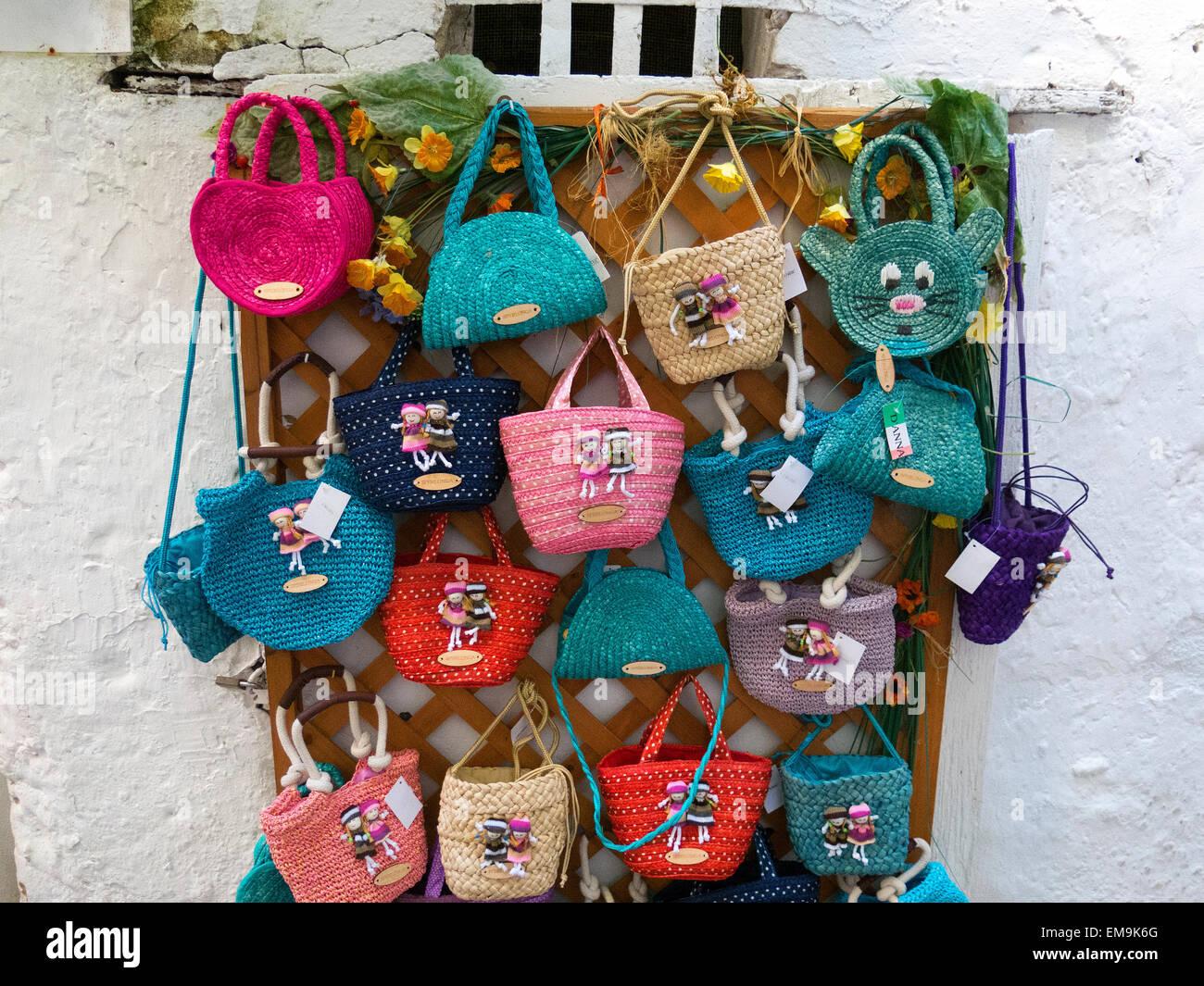 Sperlonga, handcraft for sale in the old town centre, Lazio, Italy - Stock Image