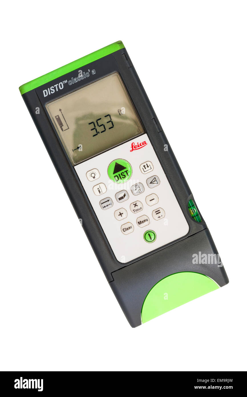 A Leica Disto Classic 5a measuring device used by Estate Agents etc. for measuring room sizes by laser - Stock Image