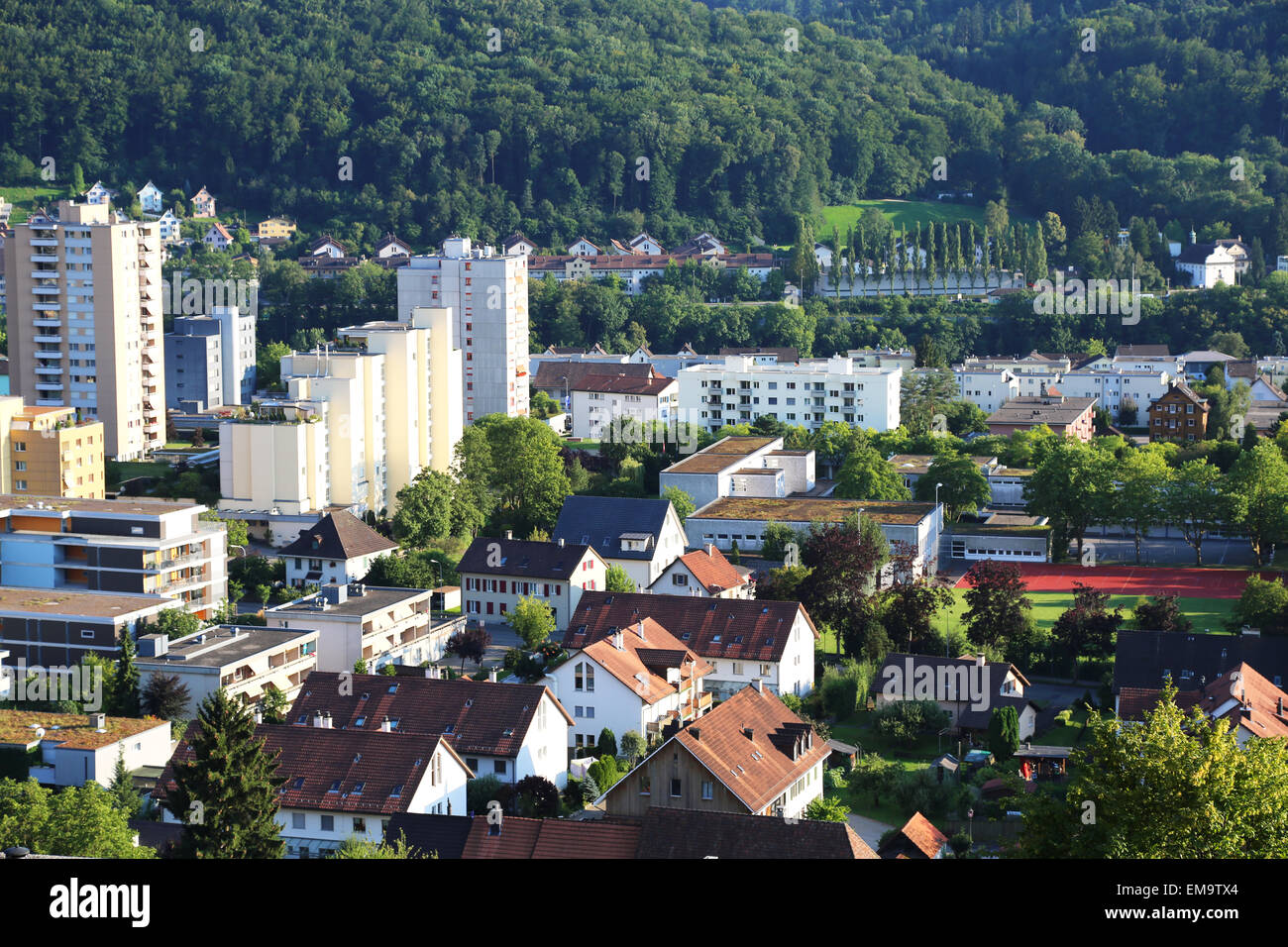 Houses and buildings in Baden, Switzerland Stock Photo